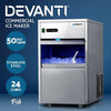 Devanti 50kg Ice Cube Maker Stainless Steel