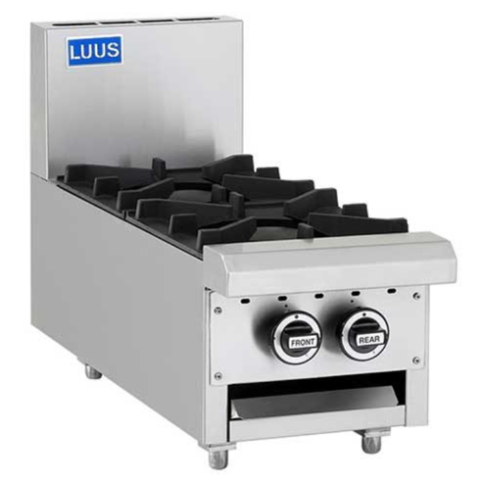 LUUS Professional Benchtop 2 Burner Cooktop 300mm CS-2B-B-P