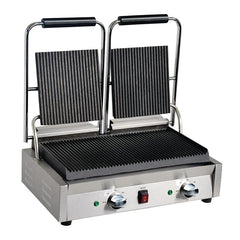 Apuro Bistro Double Ribbed Contact Grill 15AMP plug
