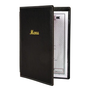 Leatherette Style Menu Holder A4 2 Card
