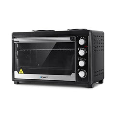 Devanti 60L Electric Convection Oven Rotisserie Grill & Hotplate - ICE Group