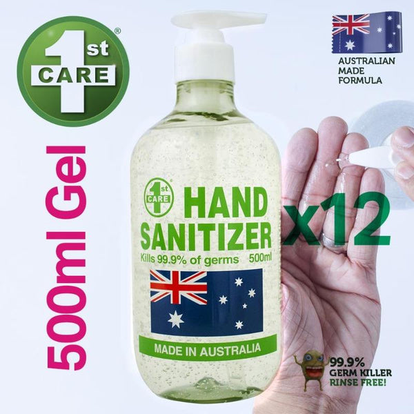 Online Only 12pce 1st Care 500ml Hand Sanitizers
