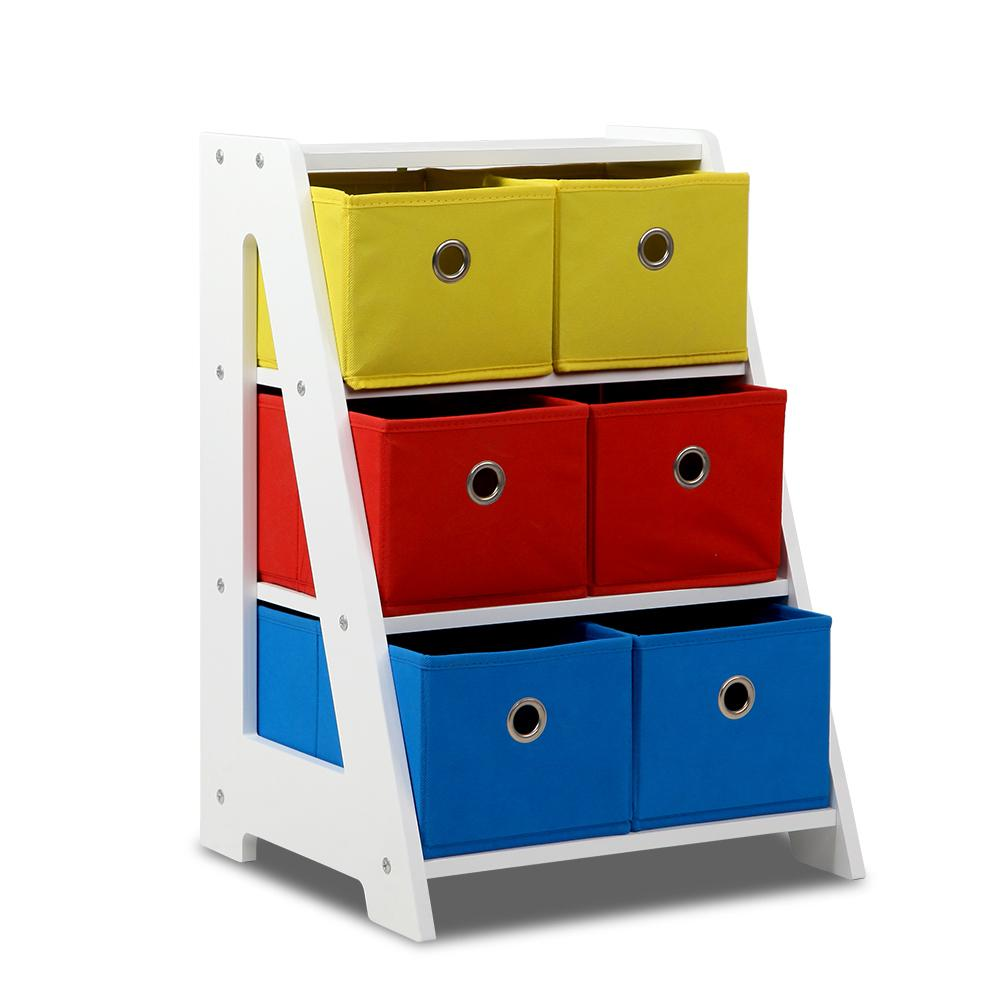 3 Tier Removable Fabric Multi-Bin Toy Box
