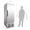 Polar 440L Upright Single Door Slimline Freezer