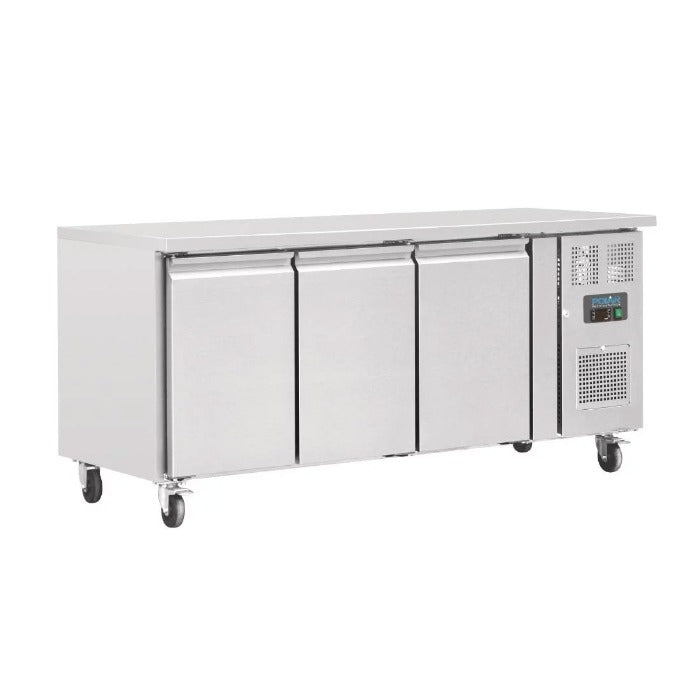 Polar 417L Counter 3 Door Fridge Stainless Steel