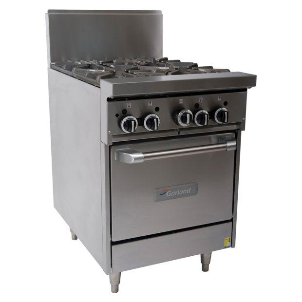 Garland 4 Open Burner W Oven 600Mm Wide GF24-4L-NG