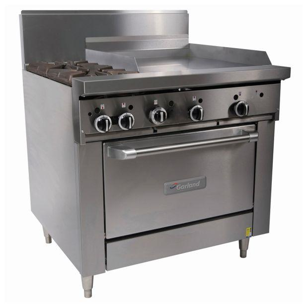 Garland Top 2 Open Burners 300Mm Rh Grill NG GF36-2G24R-NG