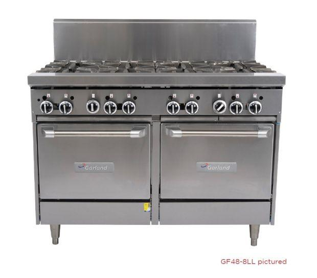 Garland GF48 Range 1200Mm 2 Open Bnr 900Mm Grill W 2 Ovens NG