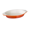 Vogue Orange Oval Cast Iron Gratin Dish 650ml