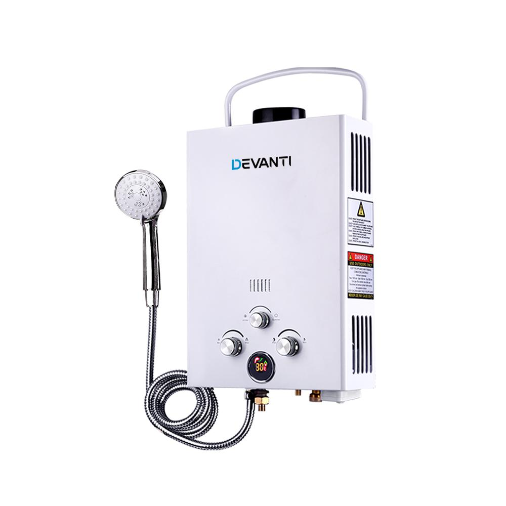 Outdoor Gas Water Heater - White