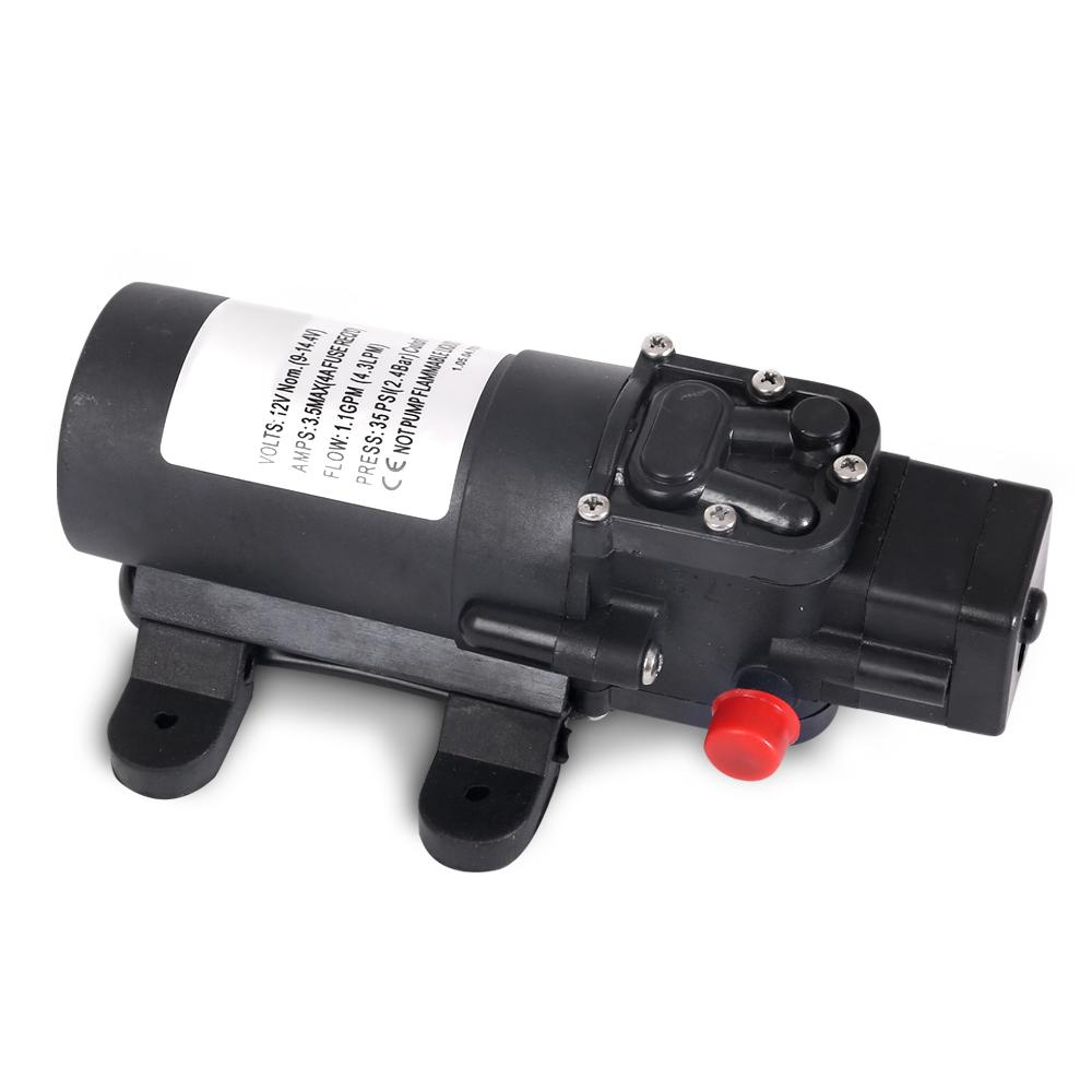 12V Water Pump Black - ICE Group HospitalityWarehouse