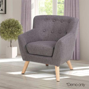 Artiss Kids Grey Fabric Accent Armchair