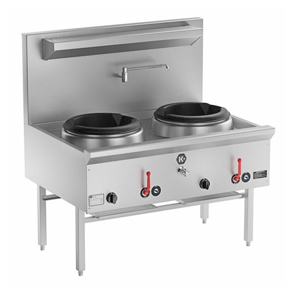 B&S K+ Double Waterless Wok 1200mm LPG UFWWK-2