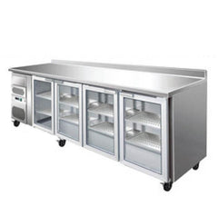 Krio Fridge 4 Door Stainless Steel Undercounter Bar - icegroup hospitality superstore