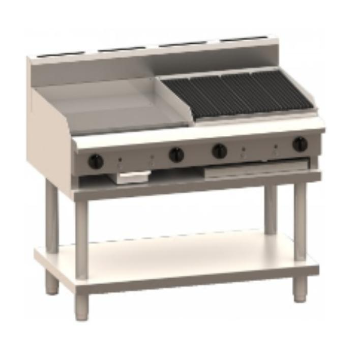 LUUS Professional Griddle Chargrill 1200mm CS-6P6C