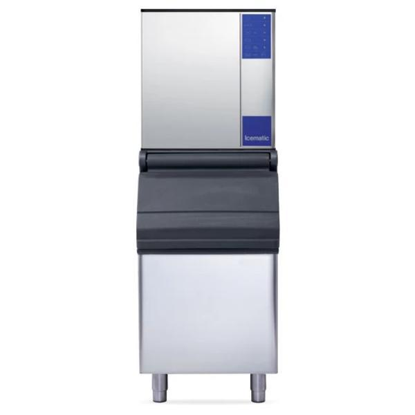 Icematic M132-A High Production Full Dice Ice Machine 130kg + Bin