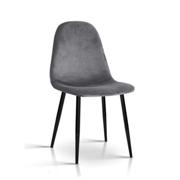 4PCE Artiss Dining Chairs Dark Grey - ICE Group