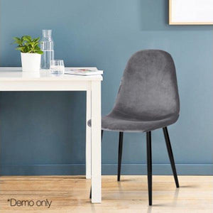 4PCE Artiss Dining Chairs Dark Grey - ICE Group HospitalityWarehouse