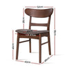 2PCE Artiss Retro Cafe Padded Chairs