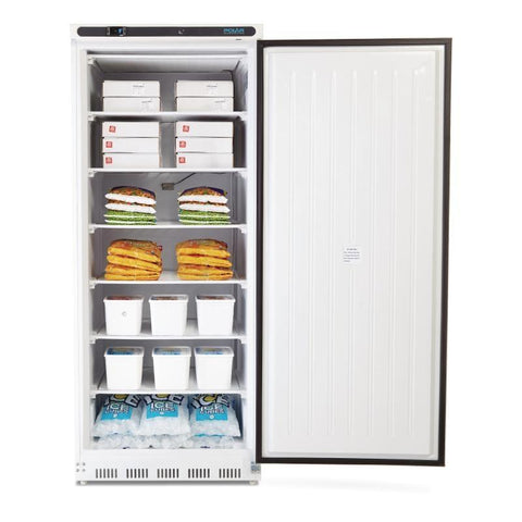 Polar Single Door Upright Freezer 600L White - ICE Group HospitalityWarehouse