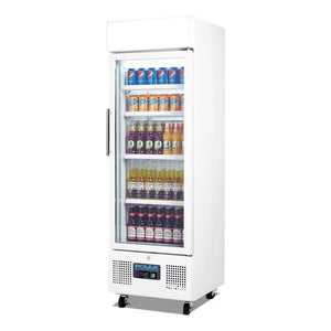 Polar 218L Upright Refrigeration Display Cabinet White - ICE Group