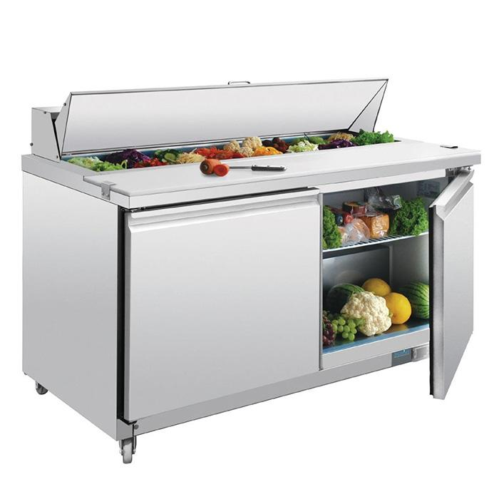 Polar 527L G-Series 2 Door Prep Counter Fridge Stainless Steel