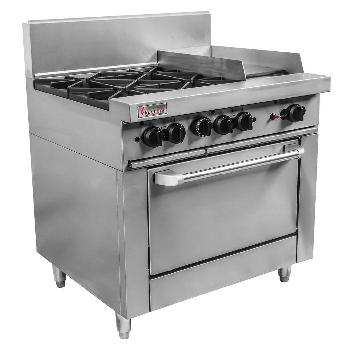 Trueheat RC Series Oven 4 Burner with 300mm griddle RCR9-4-3G-NG