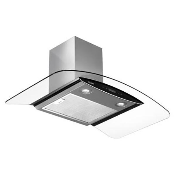 Devanti 900mm Commercial Rangehood Stainless Curved Glass Canopy