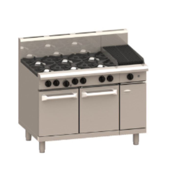 LUUS Professional 6 Burner Chargrill Oven 1200mm RS-6B3C