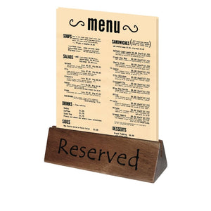 10PCE Olympia Acacia Menu Holder and Reserved Sign