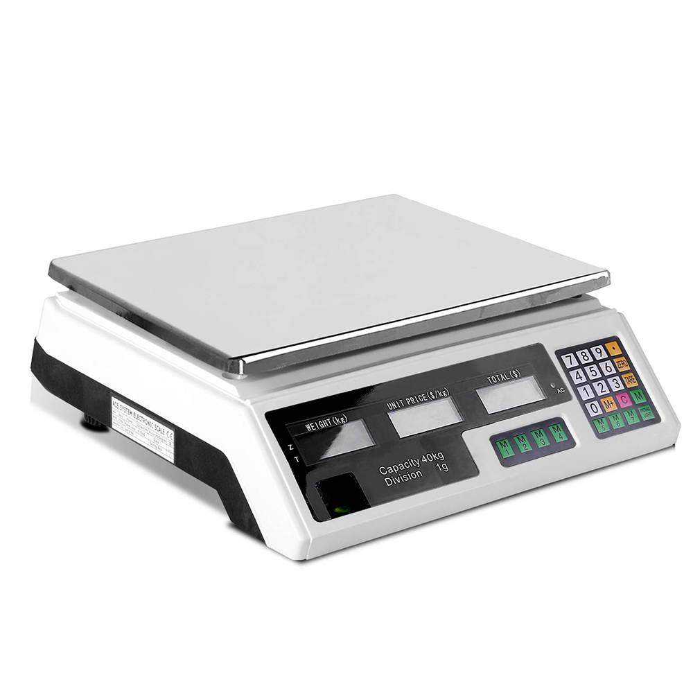 Giantz Electronic Digital Weight Scales 40kg White