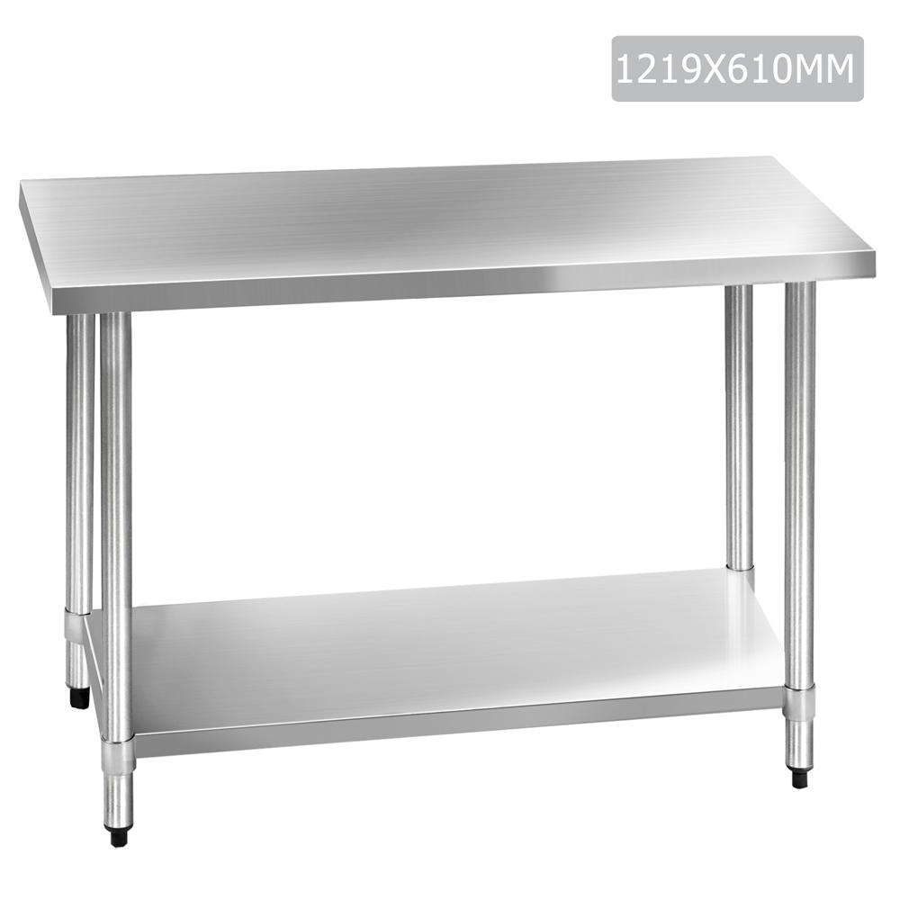 304 Stainless Steel Kitchen Work Bench Table 1219mm - ICE Group