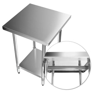 Cefito 610 x 610mm Commercial Stainless Steel Bench