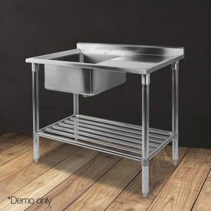1m Commercial Stainless Steel Kitchen Sink Bench with Single Bowl - ICE Group