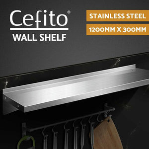 Stainless Steel 1200mm Display Rack Mounted Shelves