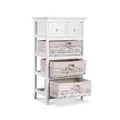 Artiss 3 Basket Storage Drawers White - ICE Group