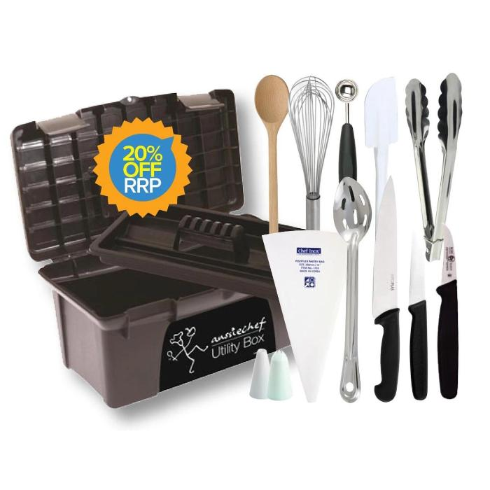 13PCE Aspiring Chef School Student Toolbox Kit