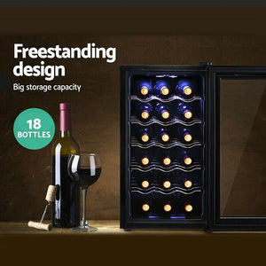 Devanti 18 Bottle Wine Cooler Thermoelectric Fridge