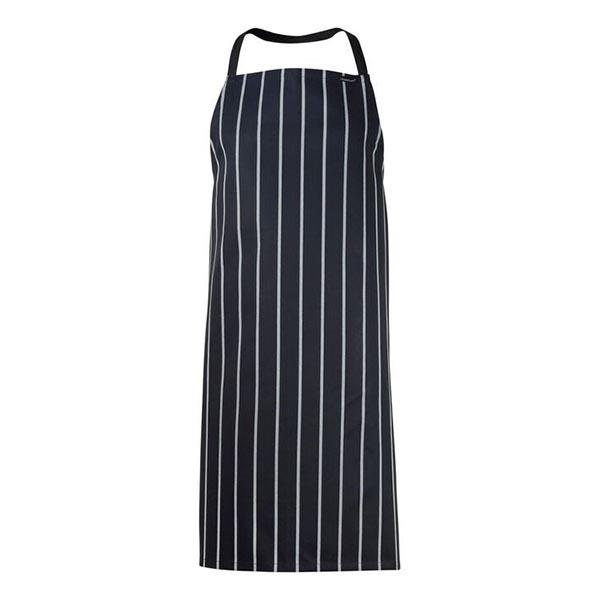 ChefsCraft Cafe Stripe Full Bib Apron Navy
