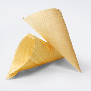 50PCE Chip Cone Bio Wood 240mm - ICE Group