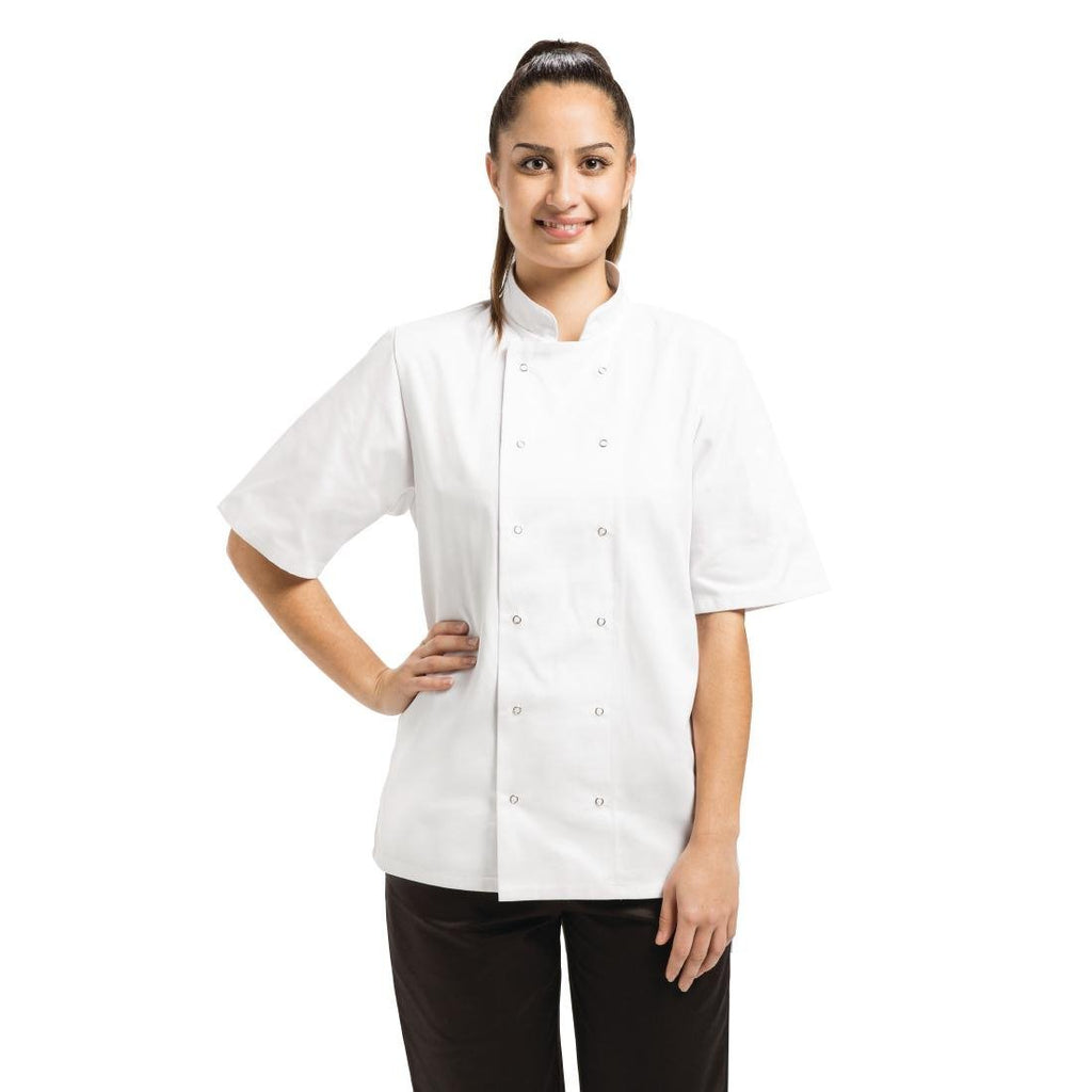 Whites Vegas White Short Sleeve Chefs Jacket L