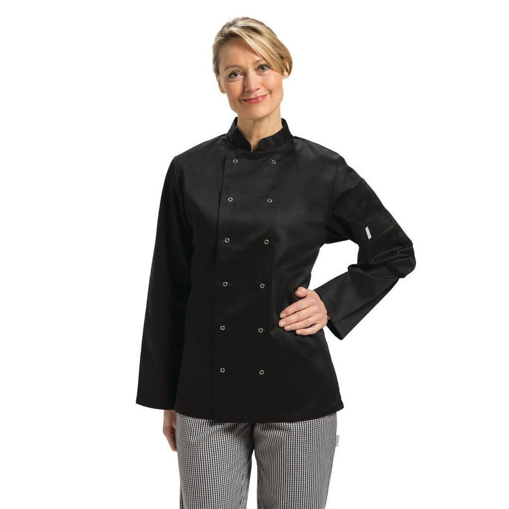 Whites Vegas Chefs Jacket Long Sleeve Black XS