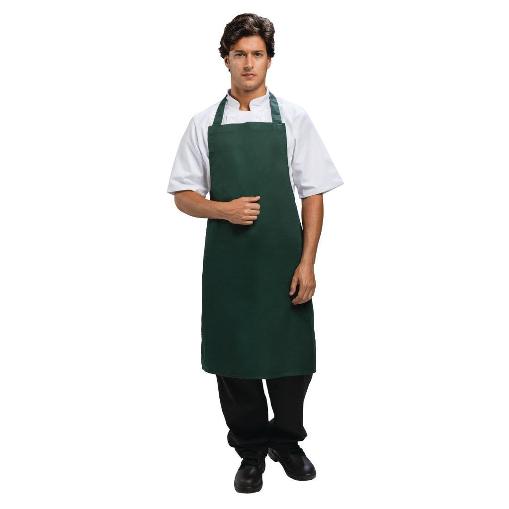 Whites Bib Apron Bottle Green