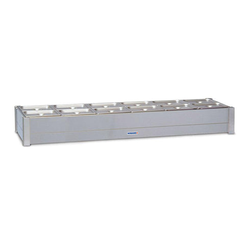 Roband Hot Bain Marie 12 x 1/2 Size Double Row BM26