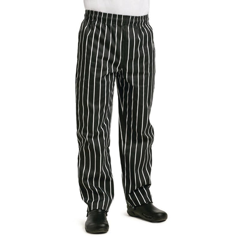 Whites Easy Fit Butchers Stripe Pants Black XXL