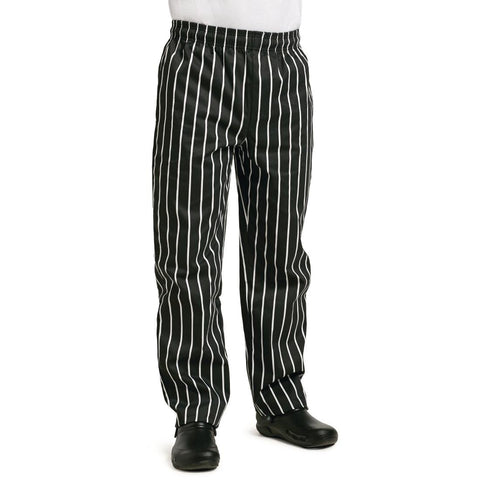 Whites Easy Fit Butchers Stripe Pants Black L