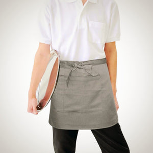 Whites Short Bistro Apron Charcoal - icegroup hospitality superstore