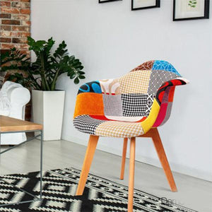 2PCE Artiss Fabric Dining Chairs
