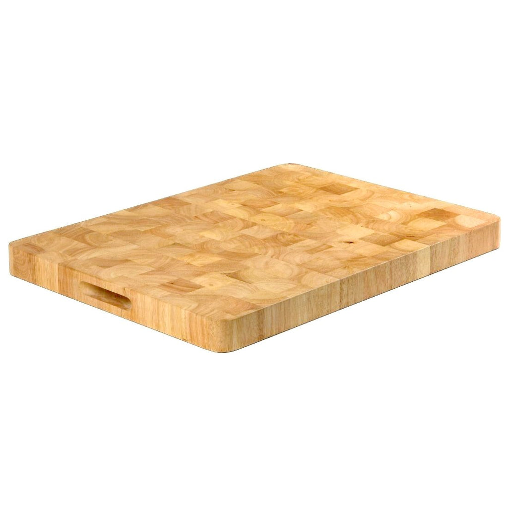 Vogue 61cm Large Rectangular Wooden Chopping Board