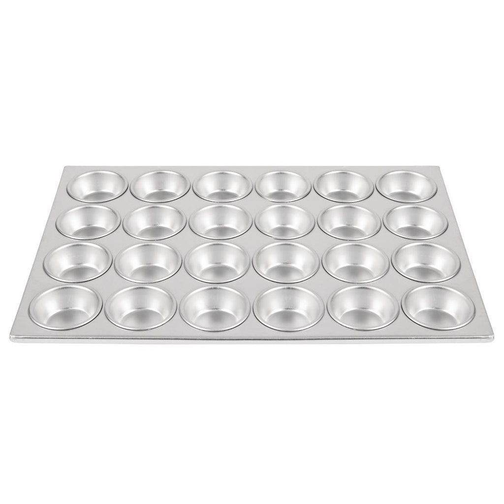 Vogue Aluminium 24 Cup Muffin Tray